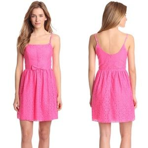 Lilly Pulitzer Antonia Lace Dress Fiesta Pink 10